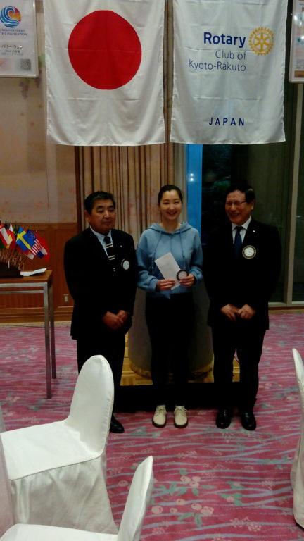 京都洛東ロータリークラブ米山奨学生2019
